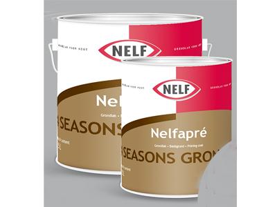 Nelfapré 4 seasons grondlak 1 ltr wit/P Aktie op=op