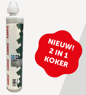 Zusex snelcompound 2in1 koker 250 ml.
