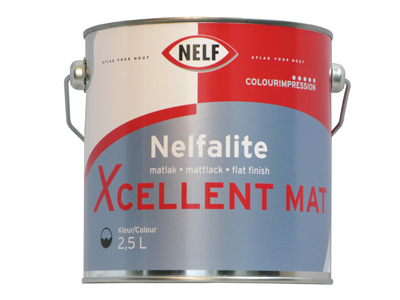 Nelfalite xcellent mat 2,5 ltr P/wit
