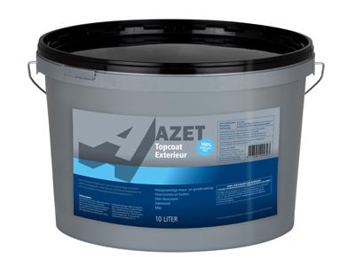 Azet-topcoat exterieur 10 ltr basis P/wit