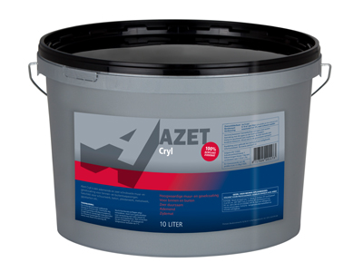 Azet-Cryl zijdemat 10 ltr basis P/wit
