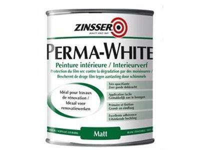 ZINSSER Perma-White Matt 1 ltr. wit of kl.