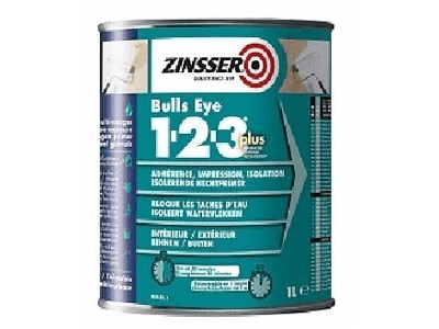 ZINSSER Bulls Eye Plus 1-2-3  1 ltr. wit of kl.