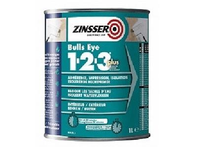 ZINSSER Bulls Eye Plus 1-2-3  1 ltr. wit of kl.