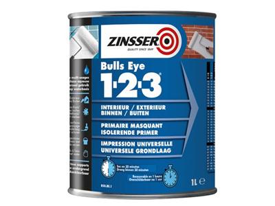 ZINSSER Bulls Eye 1-2-3  1 ltr. wit of kl.
