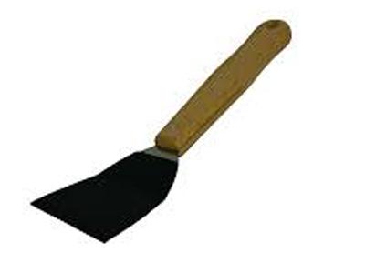 Onderdeurtje lepel met zwarte velcropad