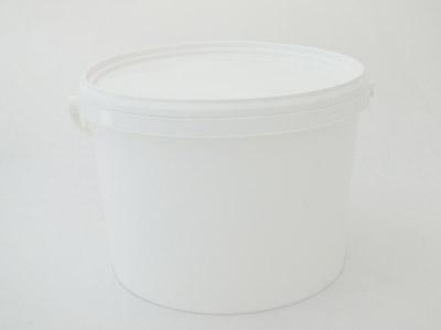 Ronde emmer wit 5 ltr + deksel