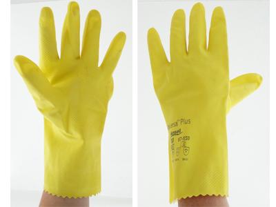 Handschoen huishoud geel L