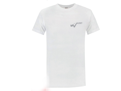T-shirt wit/kleur 190 gr Elan