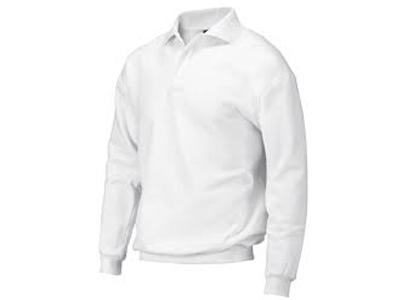 Polosweater m.b. wit/kleur XS-7XL ROM'88