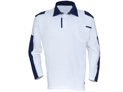 Polo-sweater painter blauw-wit mt S t/m 4XL