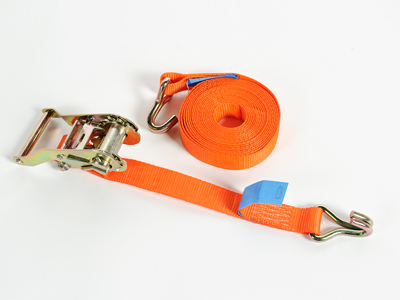 Sjorband 35mm ratel oranje+haken 6m LJ