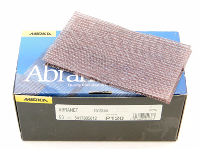 Abranet 81x133  P120 per 50 st.