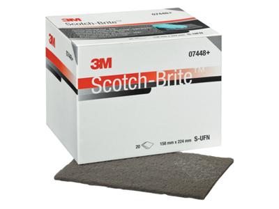 Scotch brite fijn grijs 3M 07448 p.ds van 20 stuks