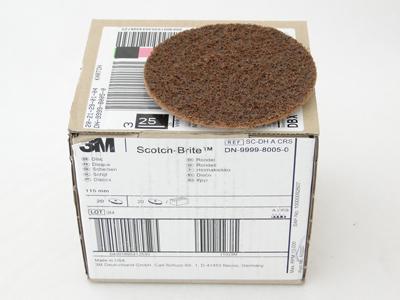 3M scd schijf 115mm grof bruin p.st