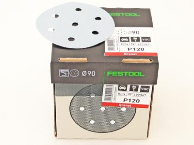 Schuurschijven D90  P120 Festool per 100 st.