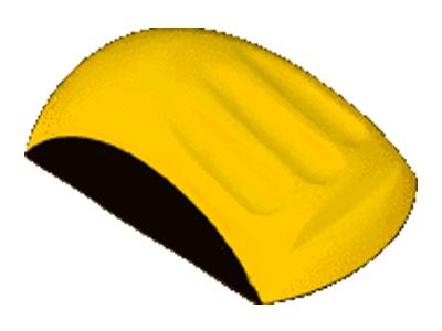 Handschuurblok 150 mm in handvorm MIRKA