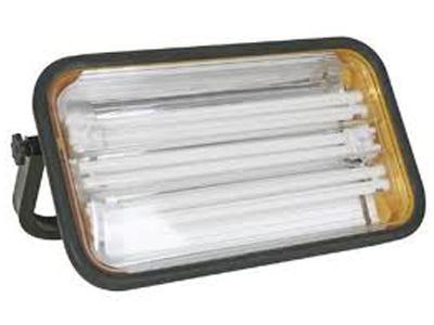 Vetec bouwlamp 3x PL36w met 2 contactd.