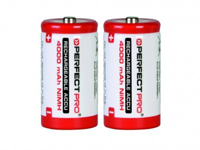 Perfect pro oplaadbare batterijen D. PPD2, 2 stuks.