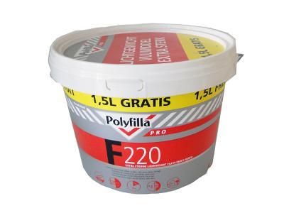 Polyfilla Pro F220 semi-lichtgew. vulmiddel 2,5L (+1,5L)