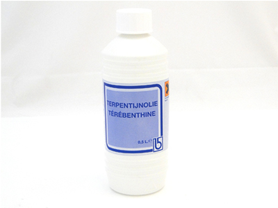 Terpentijnolie 500 ml.
