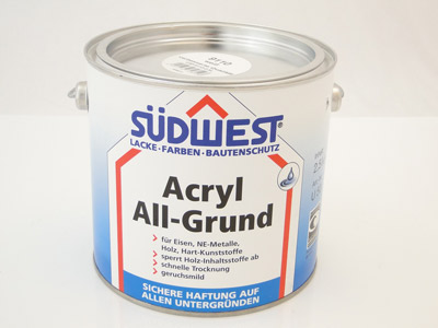 Sudwest All-Grund Acryl wit  2.5 ltr