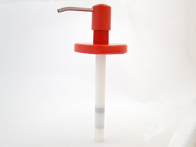 Dispenserpomp rood t.b.v. 3 liter handreininger
