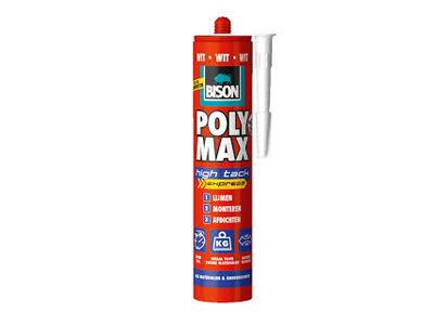 Bison poly max HIGH TACK 425 gr. koker wit
